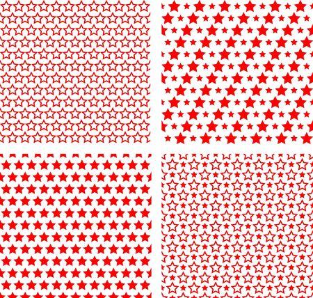Seamless stars simple textures.  Ilustrace