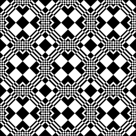 checked fabric: Seamless checkered pattern.  Illustration