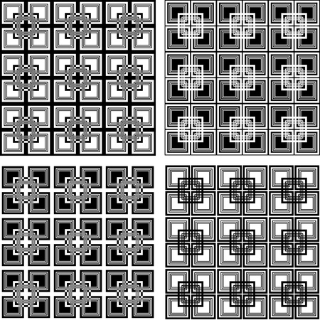 checked: Seamless checkered patterns set.