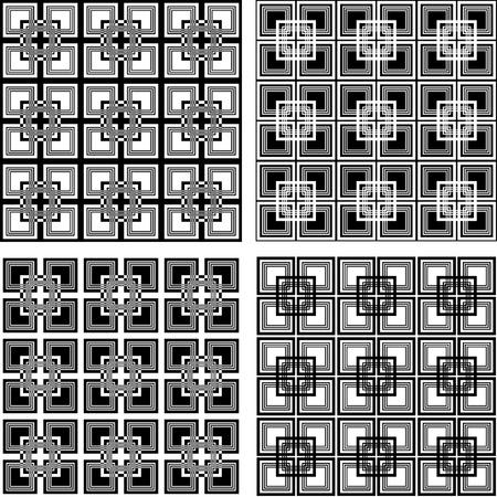 Seamless checkered patterns set. Stock Vector - 9572624