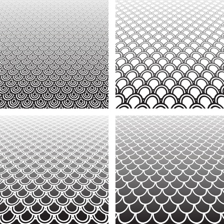 gray scale: Abstract textured backgrounds set.