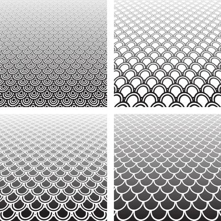 Conjunto de fondos con textura abstracta.