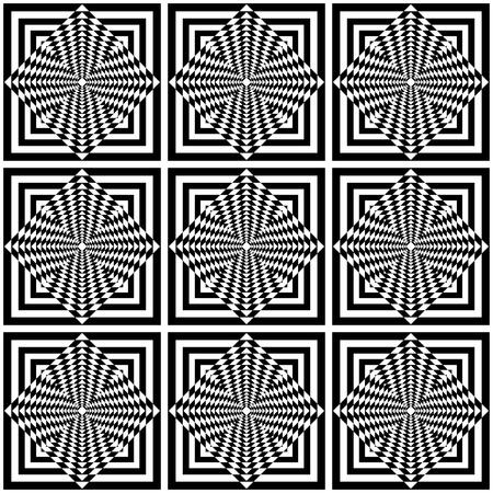 checked fabric: Seamless geometric op art pattern.