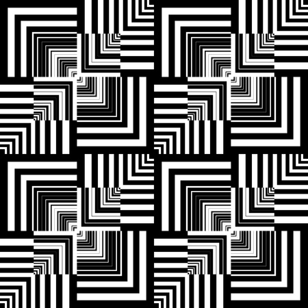 geometrical shapes: Seamless op art pattern. Geometric texture.