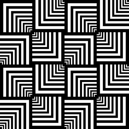 シームレスなオプアート パターン。幾何学的なテクスチャです。