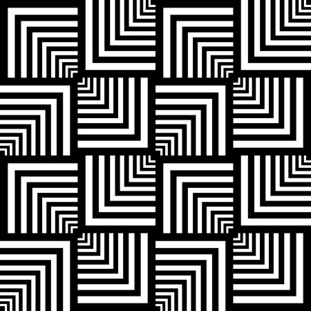 optical illusion: Seamless op art pattern. Geometric texture.