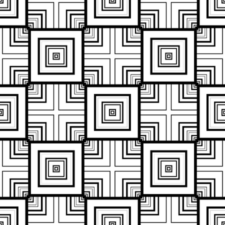 illusions: Seamless geometric pattern.