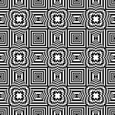 Seamless op art geometric pattern. Vector art. Vector