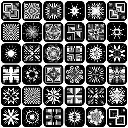 Decorative design elements. Patterns set. Vector art. Vector