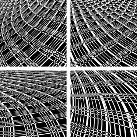 Abstract textured backgrounds set. Vector art. Stock Vector - 9777068