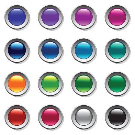 Buttons set. Color palette. Vector art. Vetores