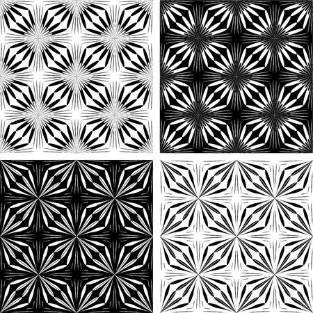 Perfetta motivi geometrici set. Arte vettoriale. Vettoriali