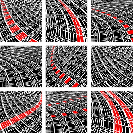 streaks: Backgrounds set. Abstract patterns with lines texture. Vector art.