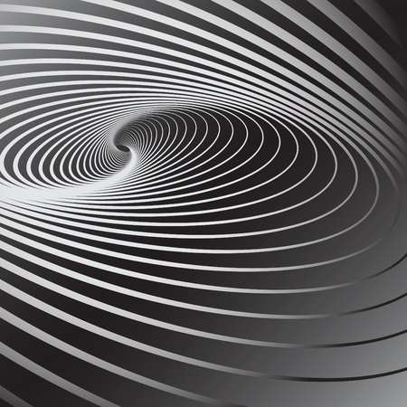 optical illusion: Abstract background with swirl movement effect. Vector art.