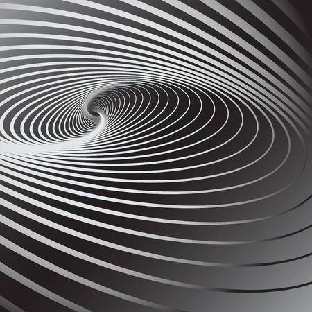 arte optico: Fondo abstracto con efecto de movimiento de remolino. Ilustraciones vectoriales.