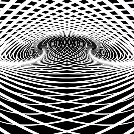 Optische illusie vector achtergrond. Op Art. Vector Illustratie