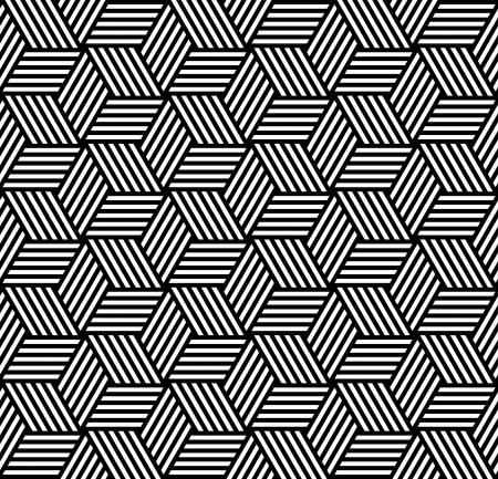 hexagonal pattern: Seamless geometric pattern in op art design. Vector art.