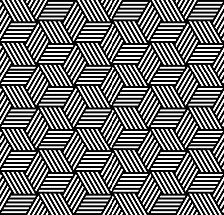 rhombus: Seamless geometric pattern in op art design. Vector art.