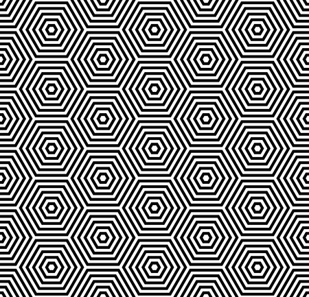 optical illusion: Hexagons texture. Seamless geometric pattern.