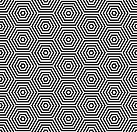 iteration: Trama di esagoni. Seamless pattern geometrici.  Vettoriali