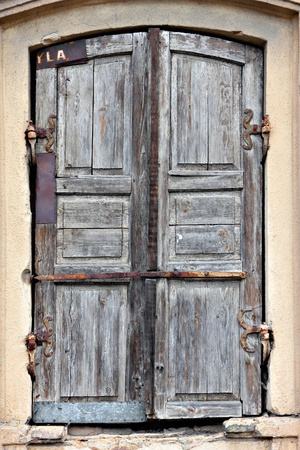 Old timeworn doors. Stock Photo