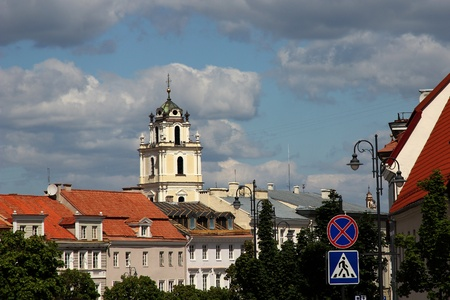Catholic Church in historical centre of Vilnius,  Lithuania. Stock Photo - 10649695