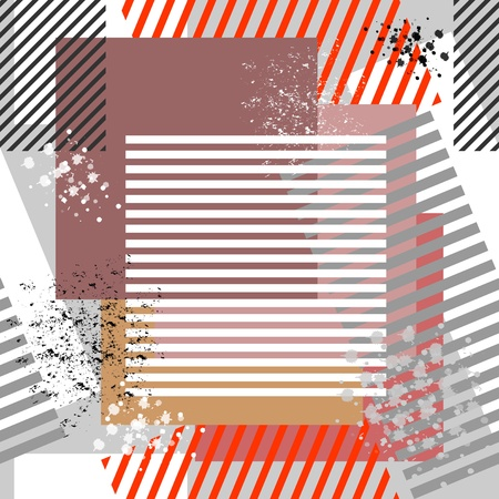 spattered: Seamless grunge textured background. Vector art. Illustration