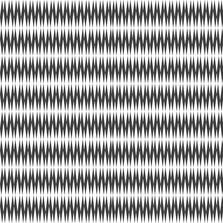iteration: Seamless pattern con design seghettato. Vector art.
