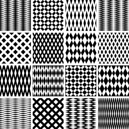 spachteln: Geometrische Strukturen. Nahtlose Muster gesetzt. Vector Kunst.