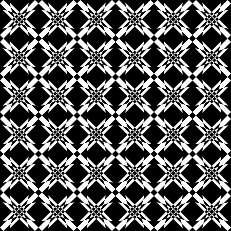 Seamless geometric crisscross pattern. Vector