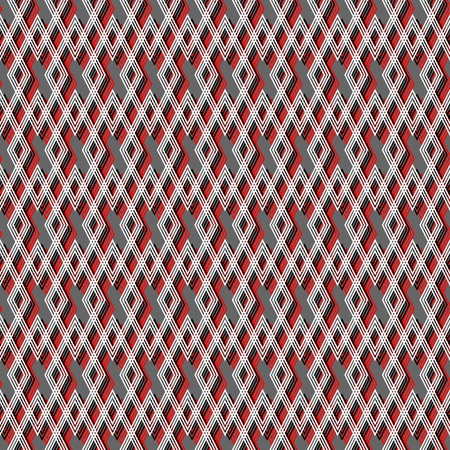 Seamless geometric pattern with diamond elements. Vector art. Vector