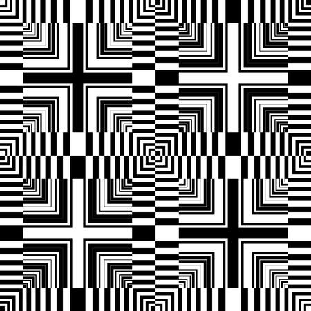 Seamless op art pattern. Abstract geometric design. Vector art.