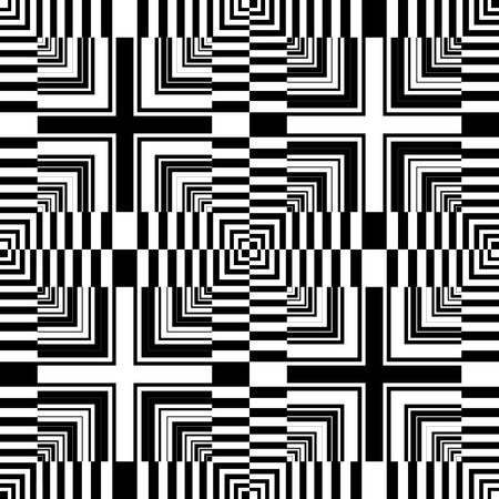 Seamless op art pattern. Abstract geometric design. Vector art. Vector