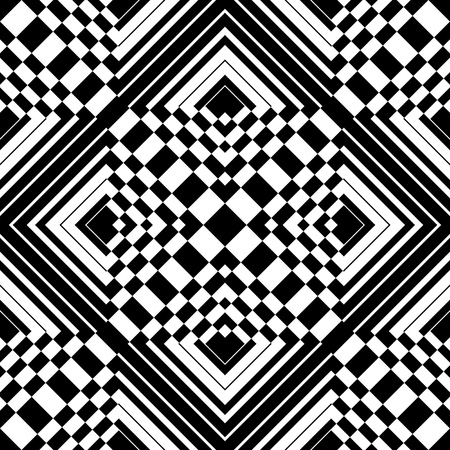 Seamless op art pattern. Vector illustration.