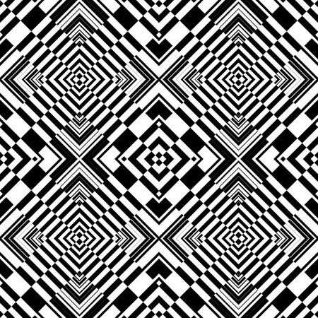 Seamless op art geometric pattern. Vector illustration.