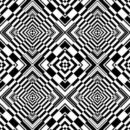 Seamless op art geometric pattern. Vector illustration.