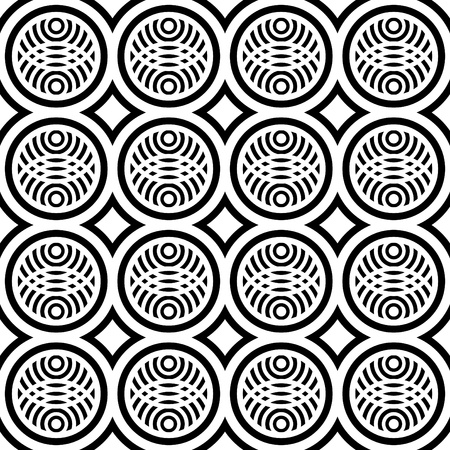 Seamless pattern with fancy design. Vector art. Vector