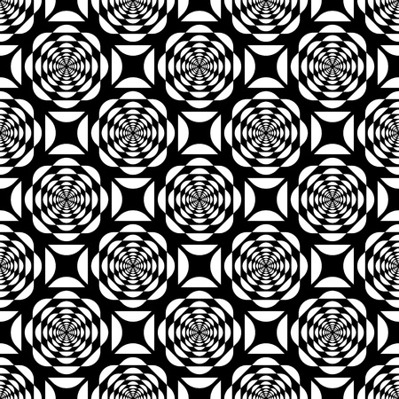 Seamless op art pattern. Vector illustration. Vector