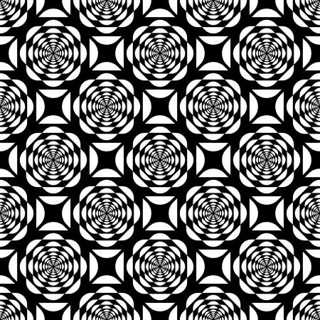 Seamless op art. Vector illustration.