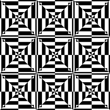 illusions: Op art design. Seamless geometric pattern. Vector illustration. Illustration