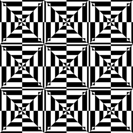 kontrolovány: Op art design. Bezešvé geometrický vzor. Vektorové ilustrace.