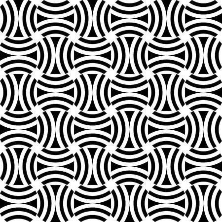 Seamless op art pattern. Vector art. Vector