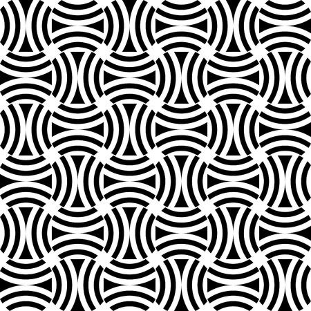 checked fabric: Seamless op art pattern. Vector art.