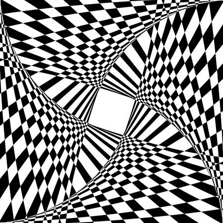 目の錯覚効果と抽象的な背景。ベクトル アート。