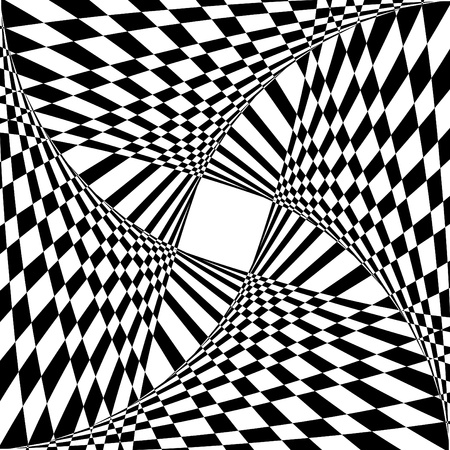 warped: Abstract background with optical illusion effect. Vector art.