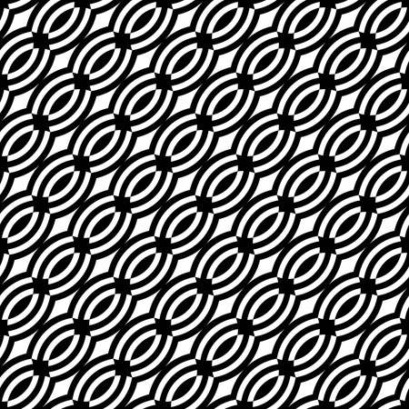 braids: Seamless diagonal pattern. Vector art.