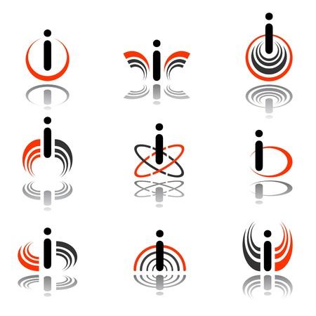 Design elements with letter  Illustration