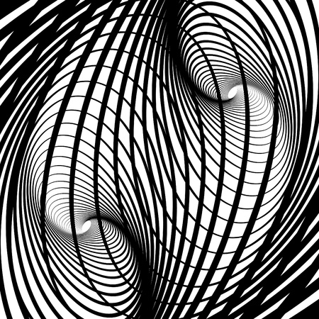 symmetry: Abstract background with swirl movement illusion.  Vector art. Illustration