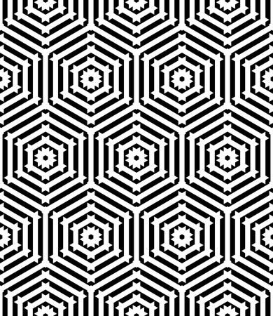 Seamless pattern with geometric texture. Vector art. Vector