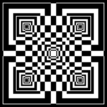 Abstract geometric pattern in op art style. Vector art.